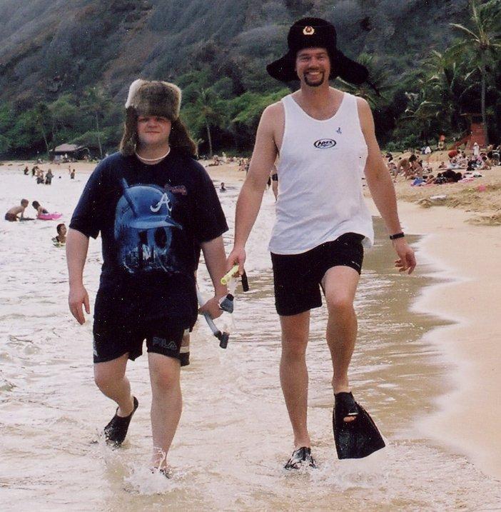 Apex Wireless staff on a beach in Hawaii