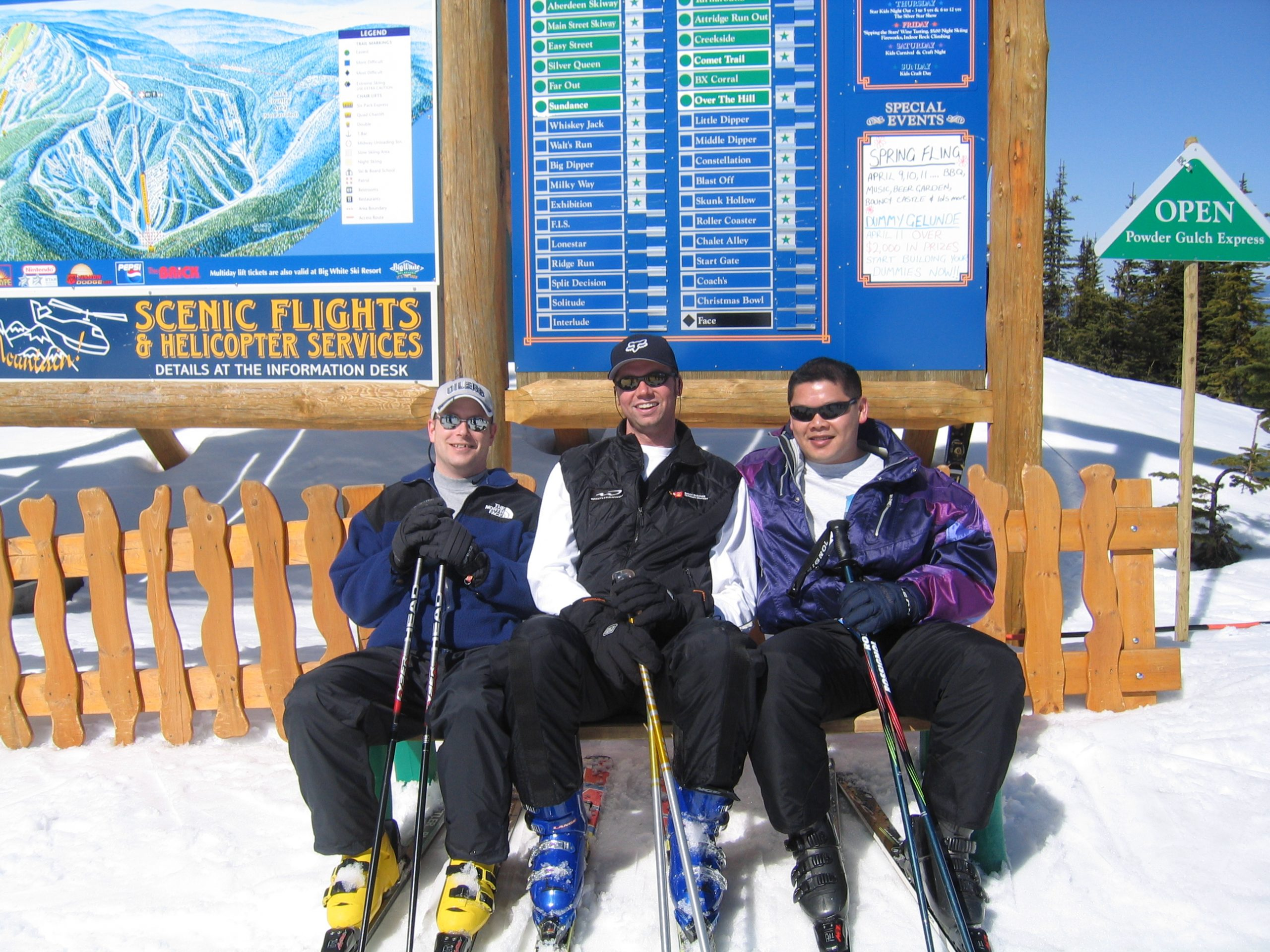 Apex Wireless staff skiing